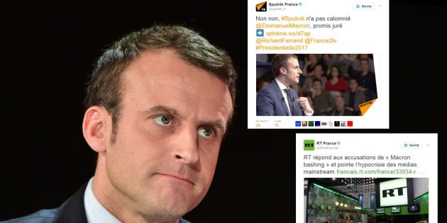 """Attaqués par le camp Macron, """"Sputnik"""" et """"RT"""" nient vouloir nuire au candidat"""
