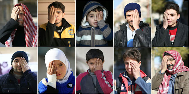 Combo de imágenes de participantes en la campaña de solidaridad con el pequeño Karim.