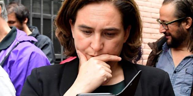 La alcaldesa de Barcelona, Ada Colau, el pasado domingo.