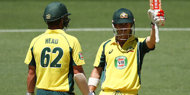 David Warner and Travis Head have opened strongly in the fifth ODI against Pakistan at the Adelaide Oval.