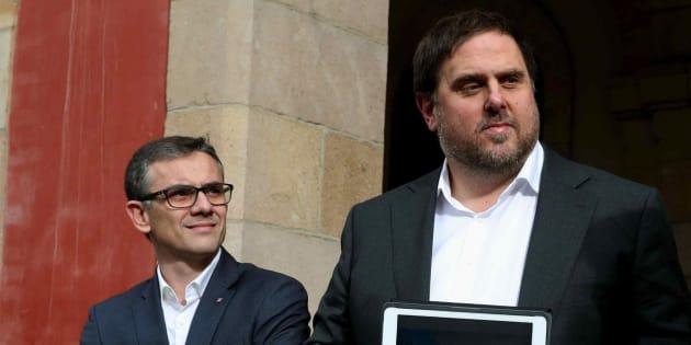 Josep Maria Jové y Oriol Junqueras, en una imagen de archivo