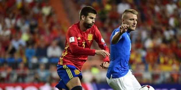 Imagen del encuentro entre España e Italia.