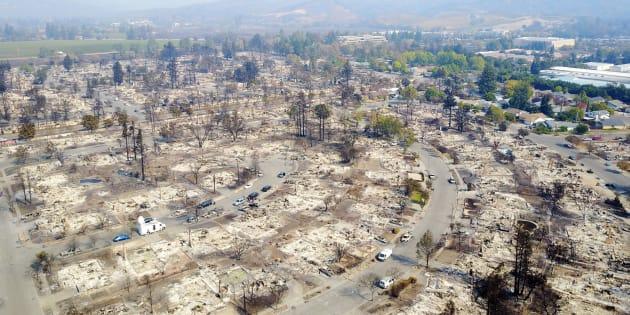 Lo que ha dejado el fuego a su paso por Santa Rosa.
