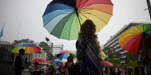 Marcha por la igualdad y la exigencia al fin de la discriminación sexual y la homofobia en Guatemala (Guatemala) el 23 de junio de 2018.