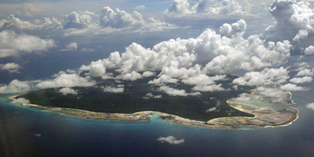 L'île de North Sentinel, située dans la mer d'Andaman