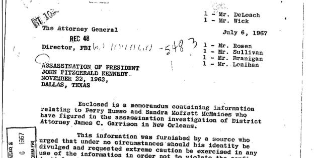 Uno de los informes publicados sobre el asesinato de Kennedy.