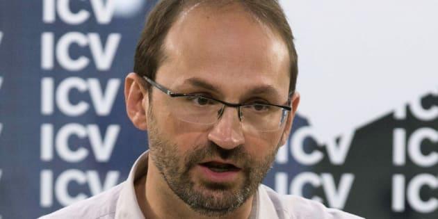 Joan Herrera cuando era coordinador de Iniciativa per Catalunya Verds, recién nombrado director general del IDAE.