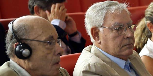 El expresidente del Palau de la Música Félix Millet y el exdirector administrativo del Palau de la Música Jordi Montull.