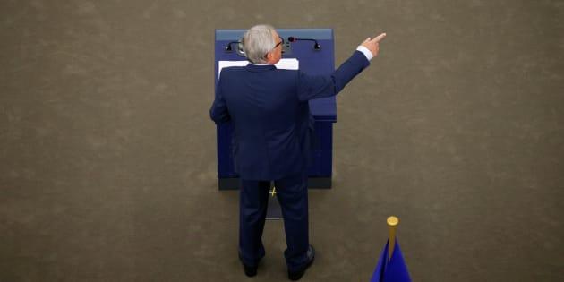 El presidente de la Comisión Europea, Jean-Claude Juncker, durante el pleno en Estrasburgo.