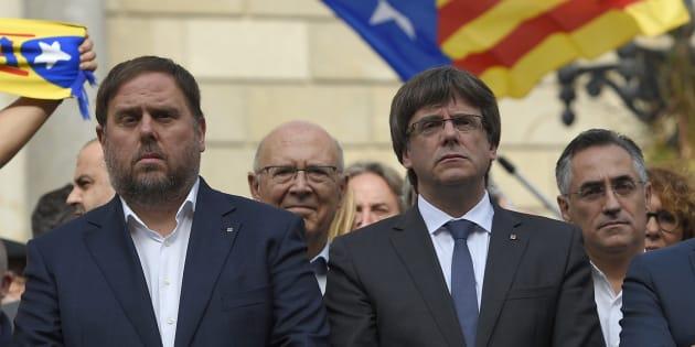 Imagen de archivo de Junqueras y Puigdemont.