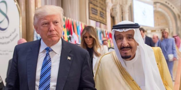 El presidente de EEUU, Donald Trump, y el rey Salman bin Abdulaziz Al Saud, reunidos en Riad el pasado marzo.