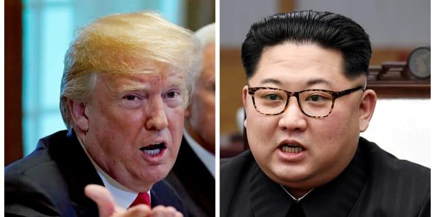 Combo con las fotos de Trump (izquierda) y Kim Jong-Un (derecha).