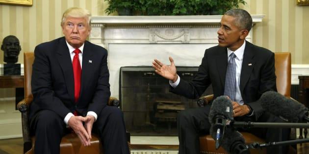 Trump y Obama, durante un encuentro que mantuvieron en noviembre de 2016.