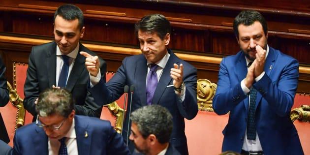 El nuevo primer ministro italiano, Giuseppe Conte, durante la sesión de este martes.