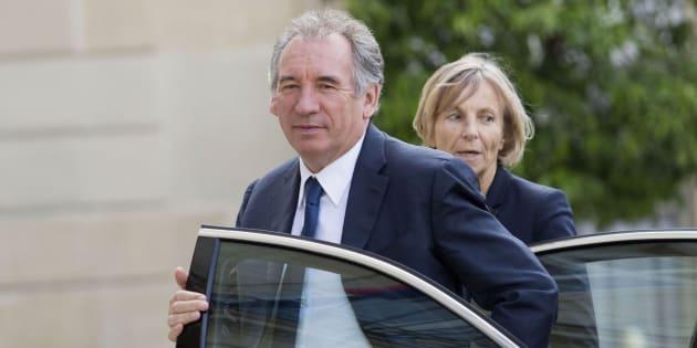 Imagen de archivo del ministro de Justicia, Francois Bayrou, y de la ministra de Asuntos Europeos, Marielle de Sarnez.