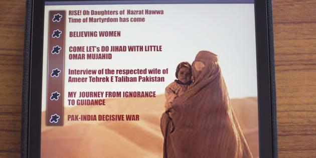 Contraportada con el índice de la revista femenina 'Sunnat-e-Khaula' lanzada por los talibanes.