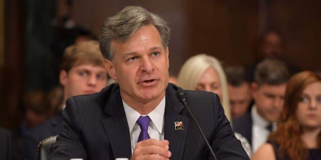 El abogado estadounidense Christopher Wray durante la sesión para su confirmación.