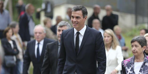 El presidente Pedro Sánchez durante el entierro de Monserrat Caballé en Barcelona. 08/10/2018