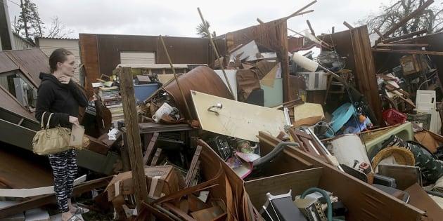 """États-Unis: """"Monstrueux"""", l'ouragan Michael a fait sa première victime en Floride."""