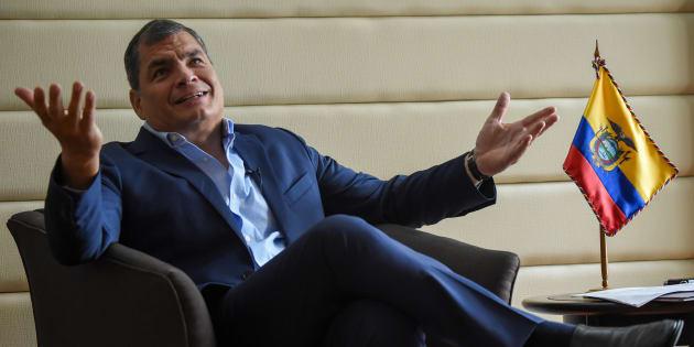 Imagen de archivo del expresidente Rafael Correa.