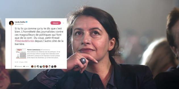 """Pour Cécile Duflot, cette décision de La Voix du Nord peut conduire à une """"aseptisation de la politique"""""""