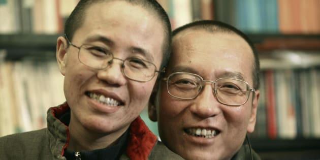 Il dissidente cinese Liu Xiaobo insieme a sua moglie Liu Xia
