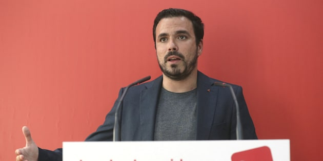 El secretario general de Izquierda Unida, Alberto Garzón.