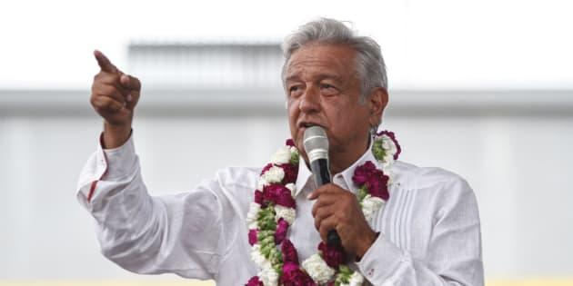 Andrés Manuel López Obrador, durante un acto de campaña en México.