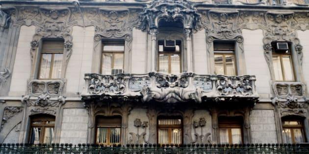 La fachada de la sede de la SGAE, en Madrid.
