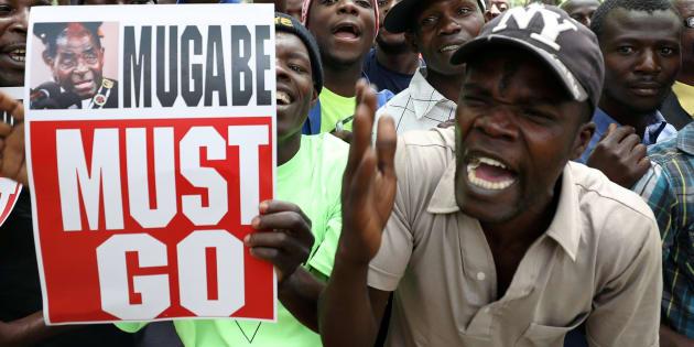 Protestas contra la permanencia en el cargo del presidente de Zimbabue, Robert Mugabe.