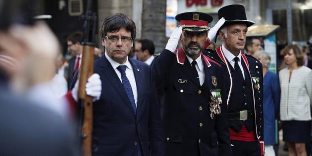 Puigdemont y Trapero