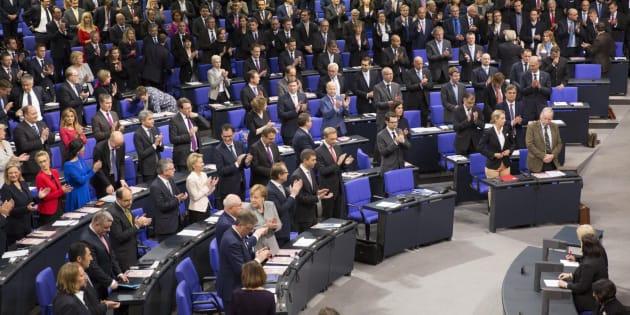 Vista general de la sesión constituyente del nuevo Parlamento alemán, en Berlín, Alemania.