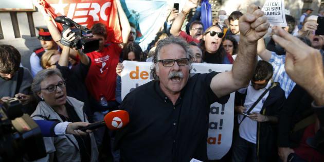 Protestas en Cataluña tras la operación de la Guardia Civil en Cataluña.