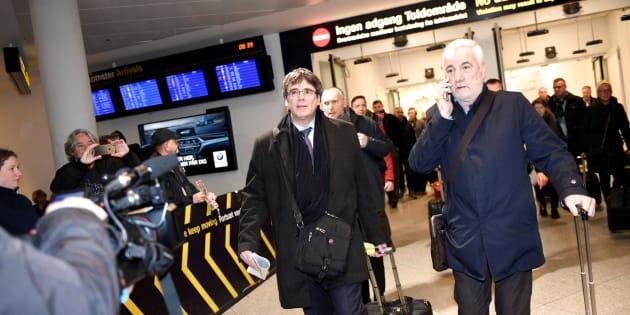 Puigdemont y Matamala, a su llegada en Copenhague
