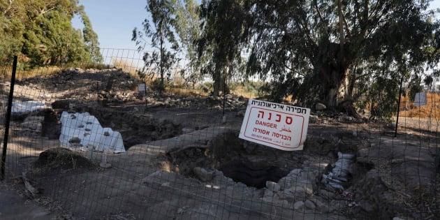 Vista de las excavaciones de la ciudad de Betsadia (Israel).