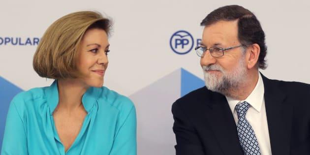 Imagen de archivo de Cospedal (izquierda) y Rajoy (derecha).