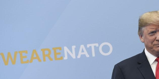 El presidente Donald Trump asiste a la cumbre de la OTAN.