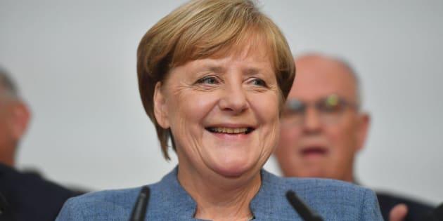 La canciller alemana, Angela Merkel, valora los resultados.