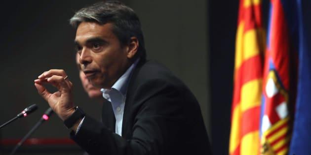 El director de deportes profesionales del FC Barcelona, Albert Soler.