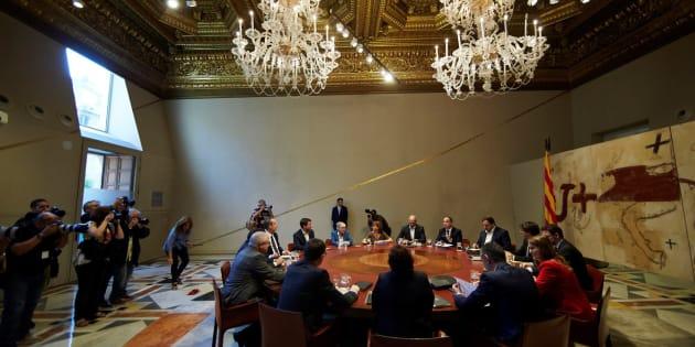 Vista general de la reunión semanal del gobierno catalán.