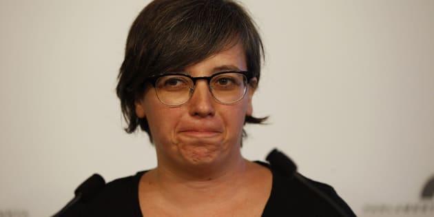 La presidenta del grupo parlamentario de la CUP, Mireia Boya.