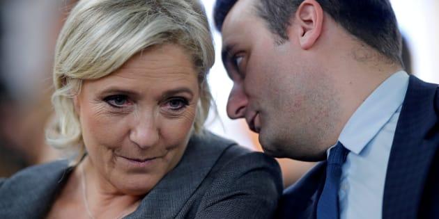Imagen de archivo de Marine Le Pen y su vicepresidente.