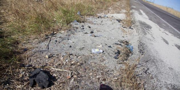 Lugar del siniestro que se ha producido en la CM-4009 a la altura de la localidad toledana de Escalonilla.