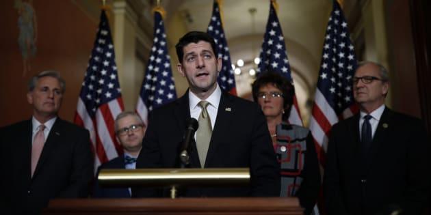 El portavoz de la Cámara, Paul Ryan, durante una rueda de prensa este 18 de enero en Washington, DC.