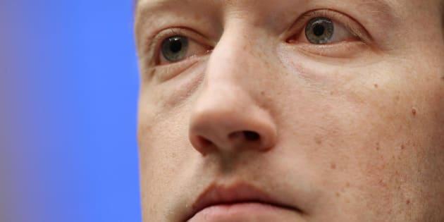 Zuckerberg durante su comparecencia ante el Congreso este miércoles.