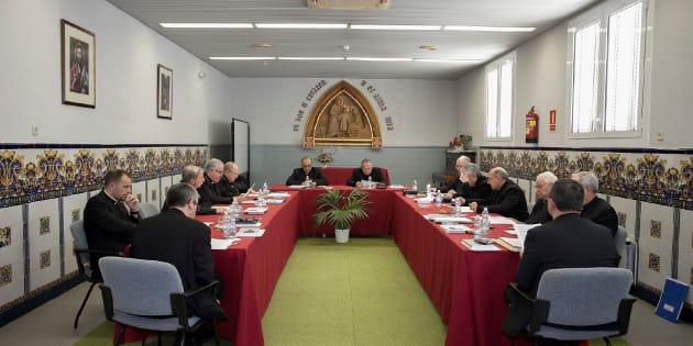Los obispos en la reunión de la Conferencia Episcopal Tarraconense (CET).