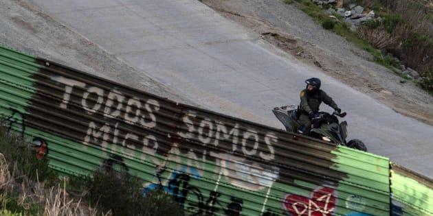 Imagen de archivo de la frontera con México.