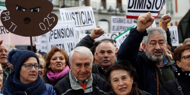 Manifestación convocada por la Coordinadora Estatal por la Defensa del Sistema Público de Pensiones.