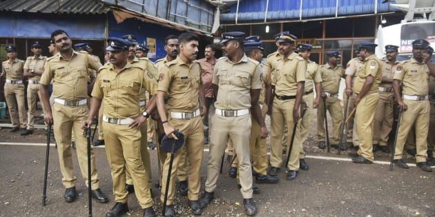 Police deployed in Kerala because of Sabarimala protests.