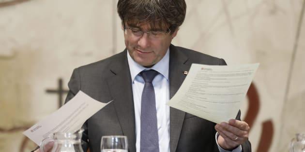El presidente de la Generalitat, Carles Puigdemont,  en una imagen de archivo.